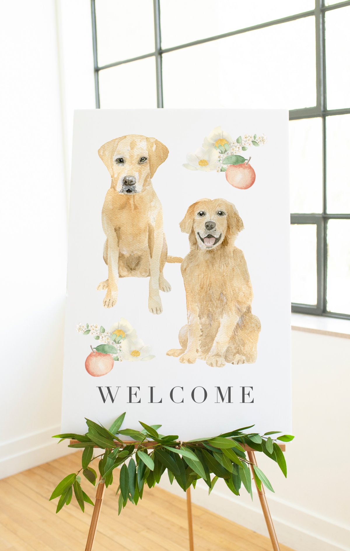 yellow-lab-goldren-retriever-welcome-sign-The-Welcoming-District