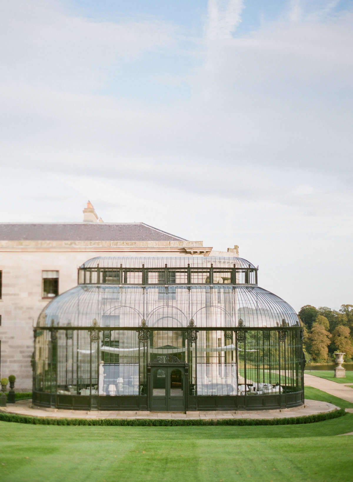 49-KTMerry-destination-weddings-Ballyfin-greenhouse-Ireland