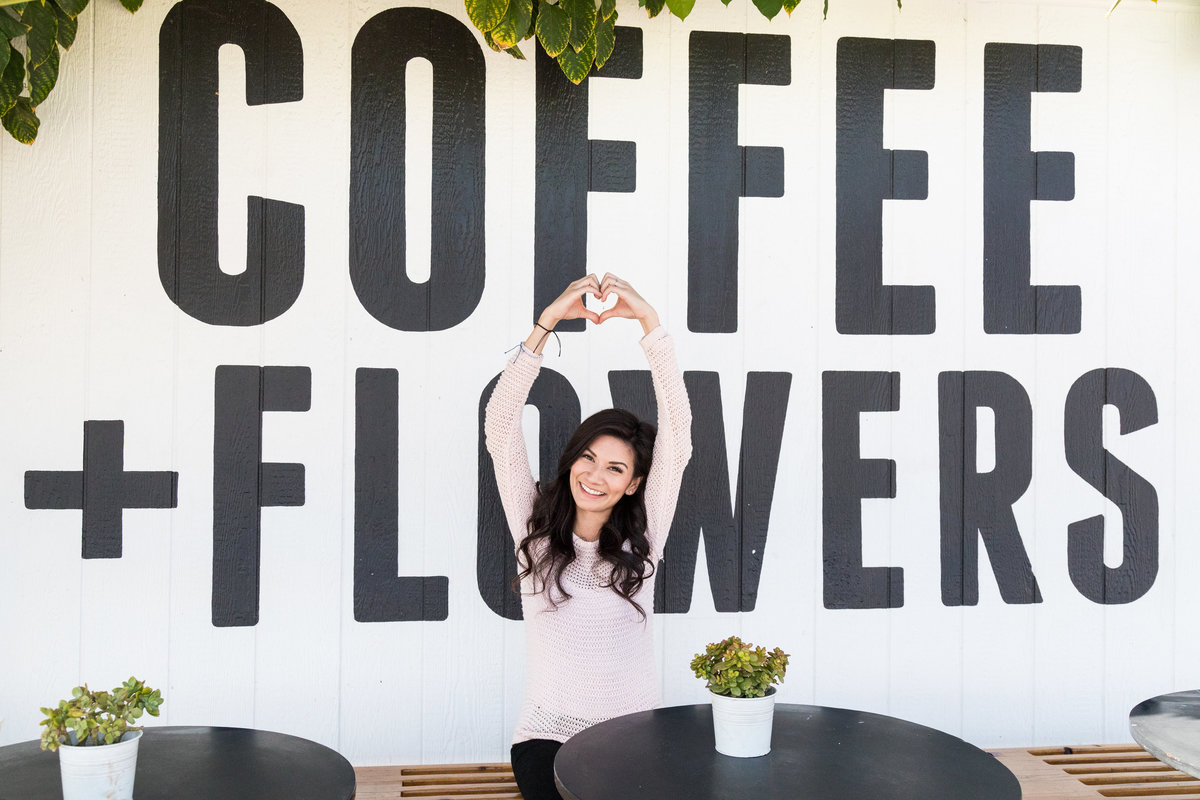 Coffee and Flowers at San Diego California