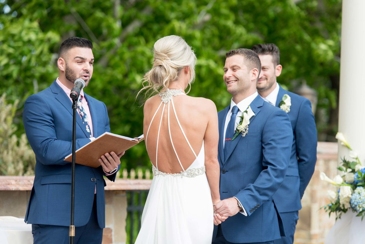 Wedding ceremony at Giorgio's Baiting Hollow