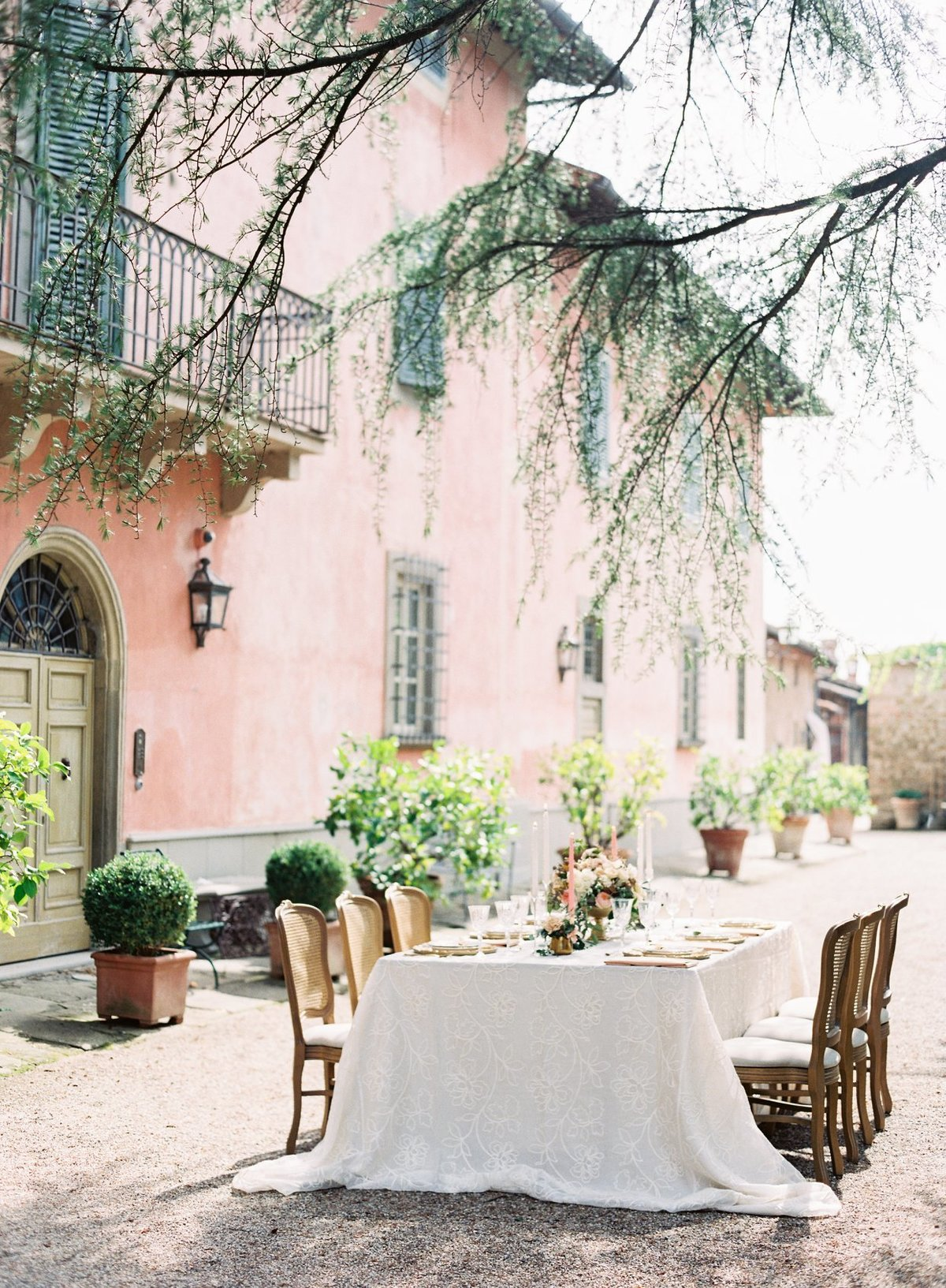 Tuscany Wedding Tablescape Design
