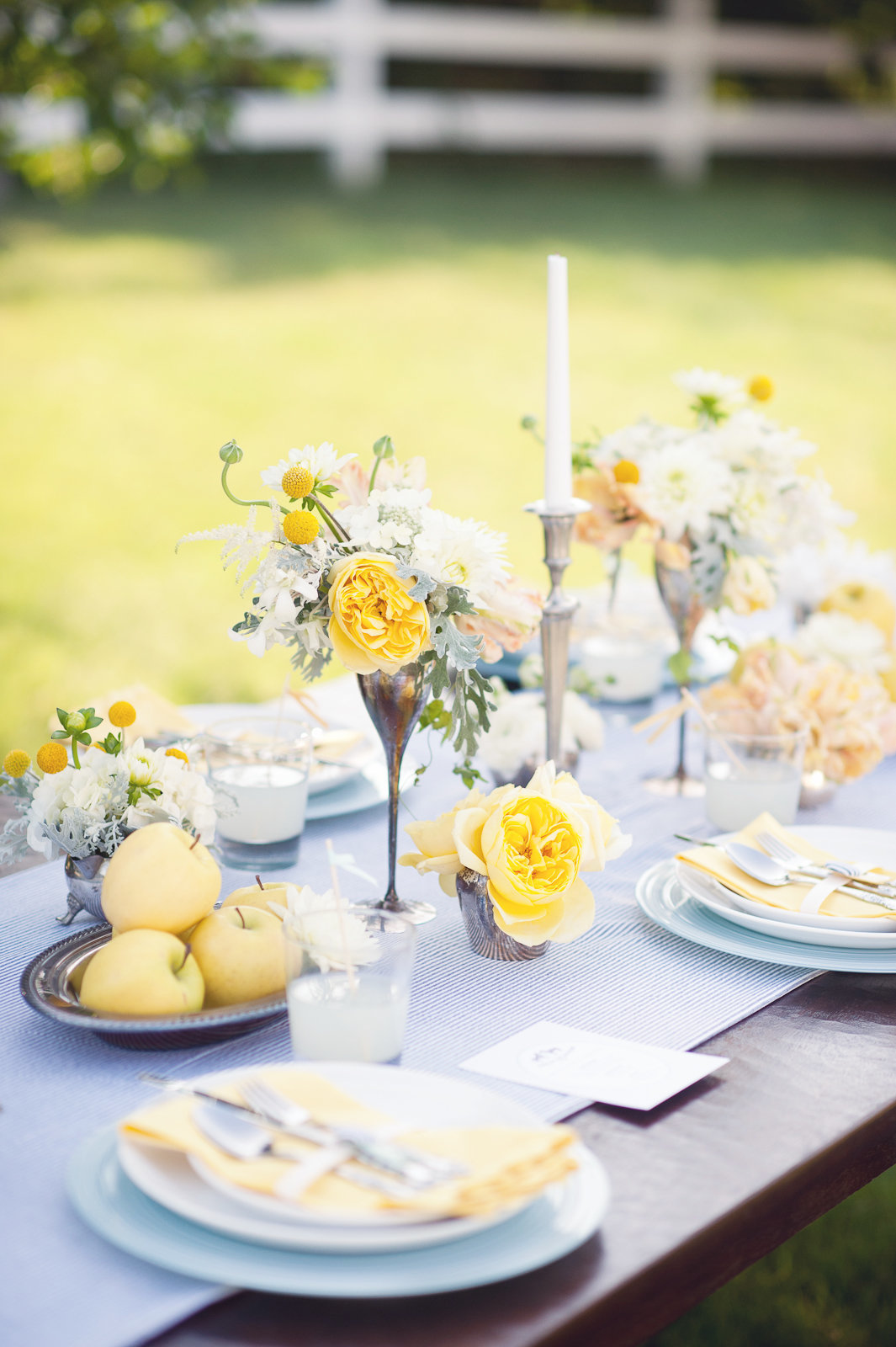 soft colored wedding centerpiece