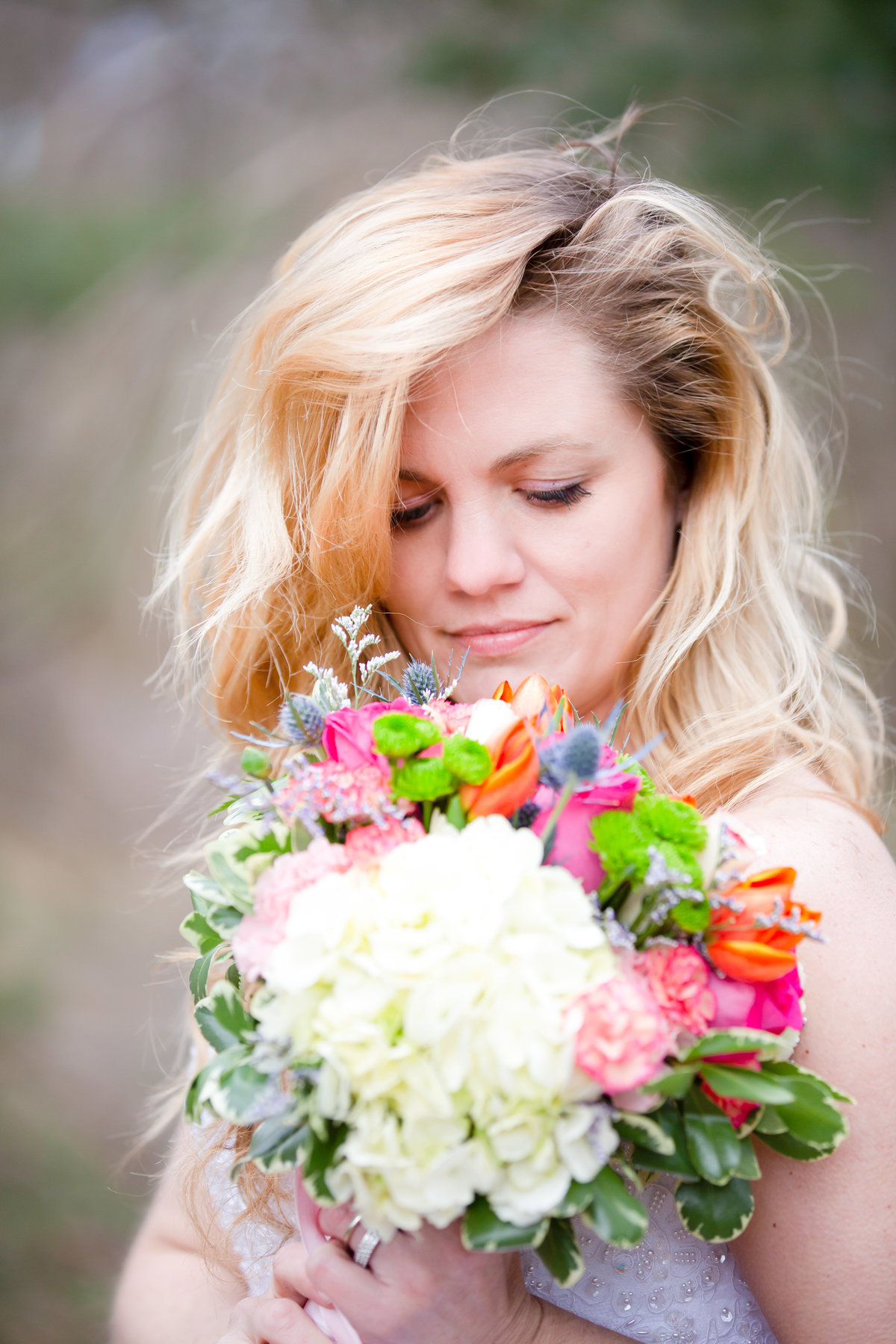 cape cod bride with beautiful flowers