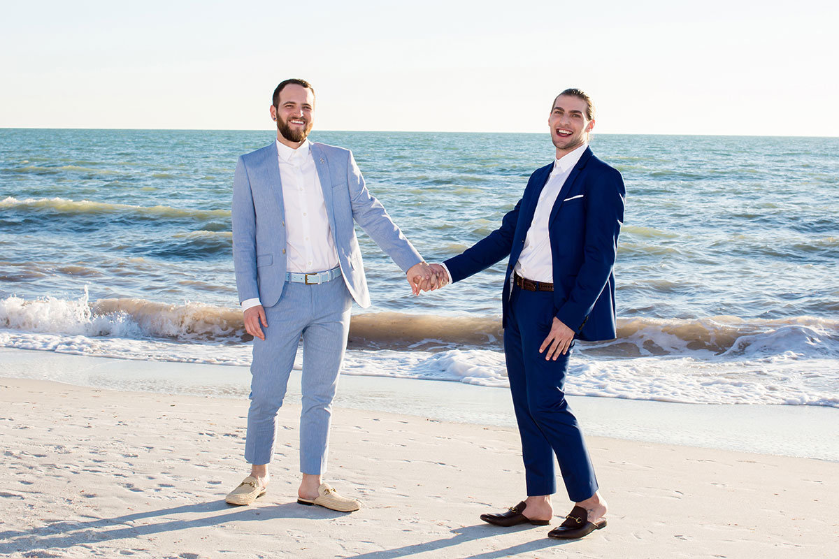 ritz carlton naples beach same sex wedding photo
