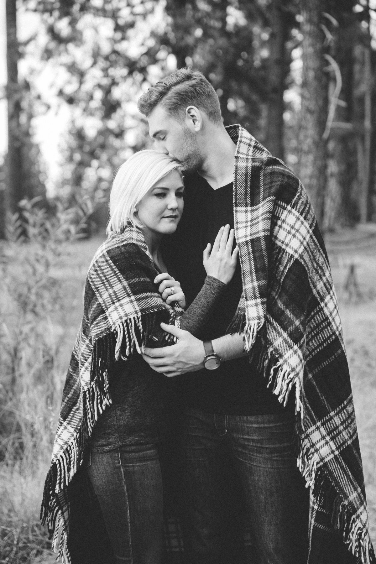 Grass Valley fall engagement photos