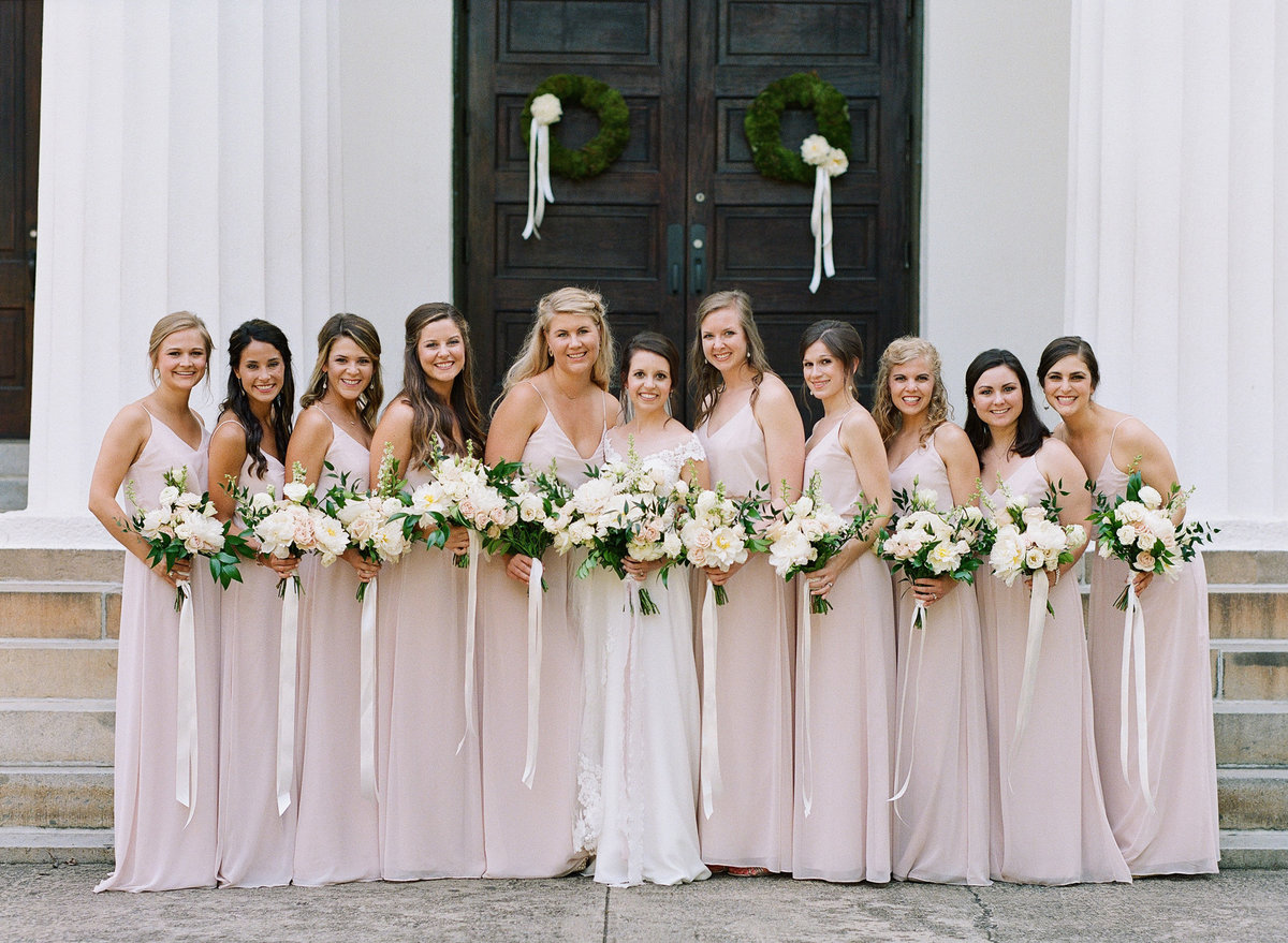 Bridesmaids at UGA Chapel Athens, GA Wedding