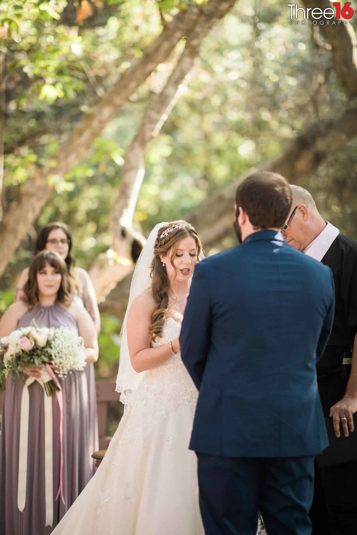 Oak Canyon Nature Center Wedding Anaheim California wedding photographer Ceremony Bride and Groom Vows_1
