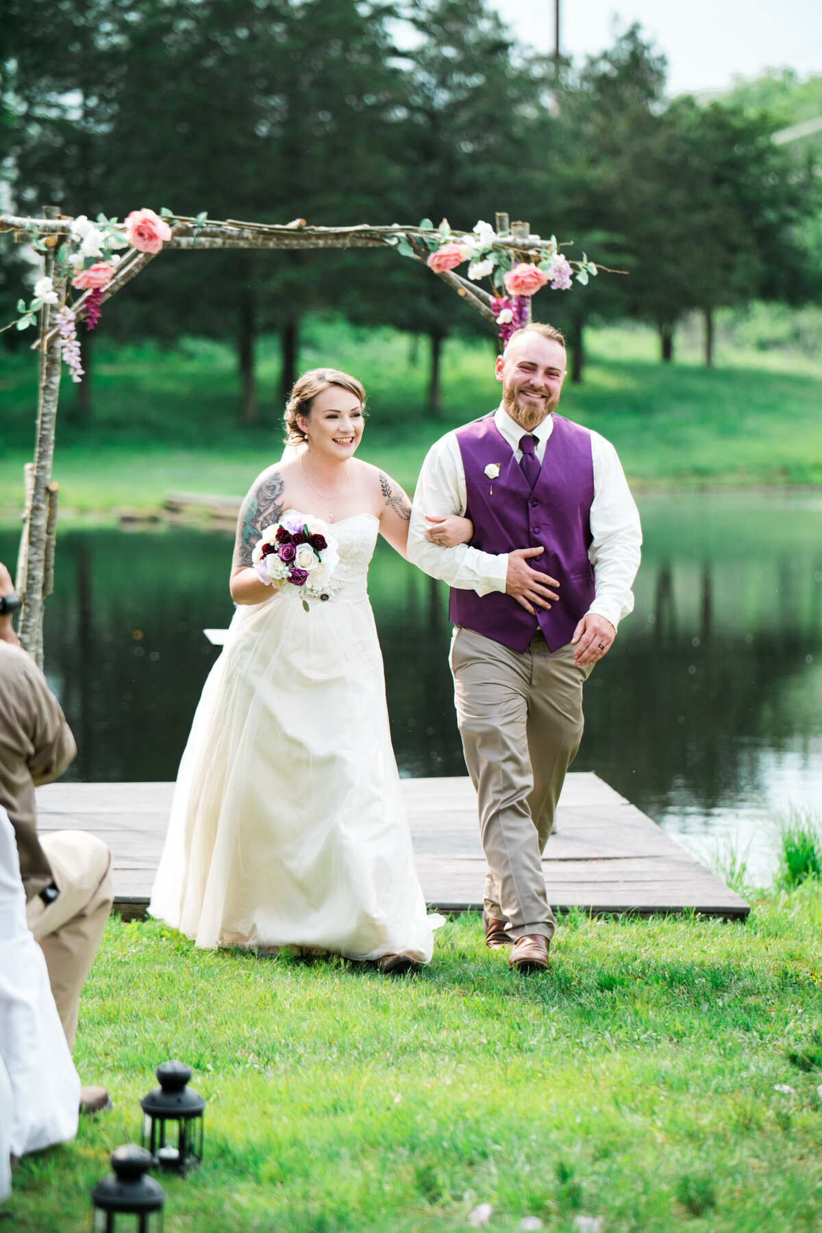 Fin Fur Massachusetts Wedding Outdoor Ceremony