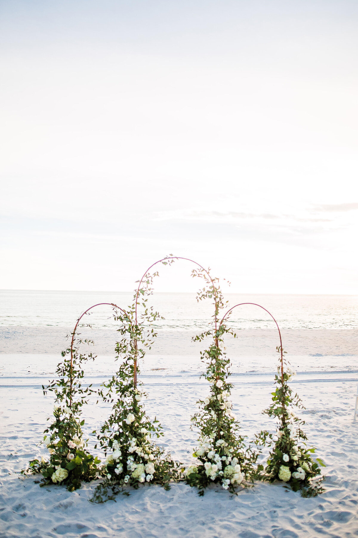 Romantic wedding altar on 30a carillon beach