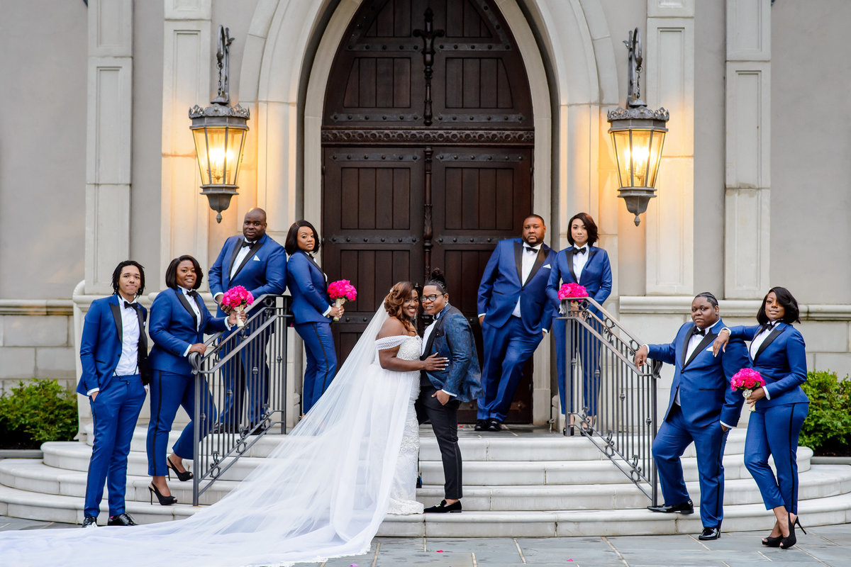 Viral NJ Wedding Bridesmaids in Tuxedos Same Sex 23