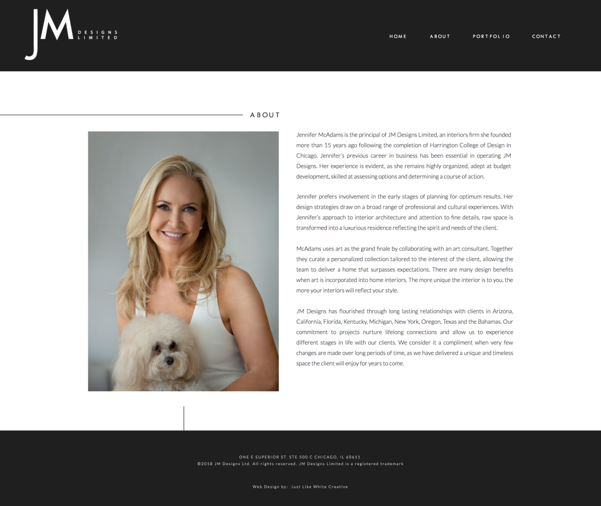 High end website design by Tribble Design Co.