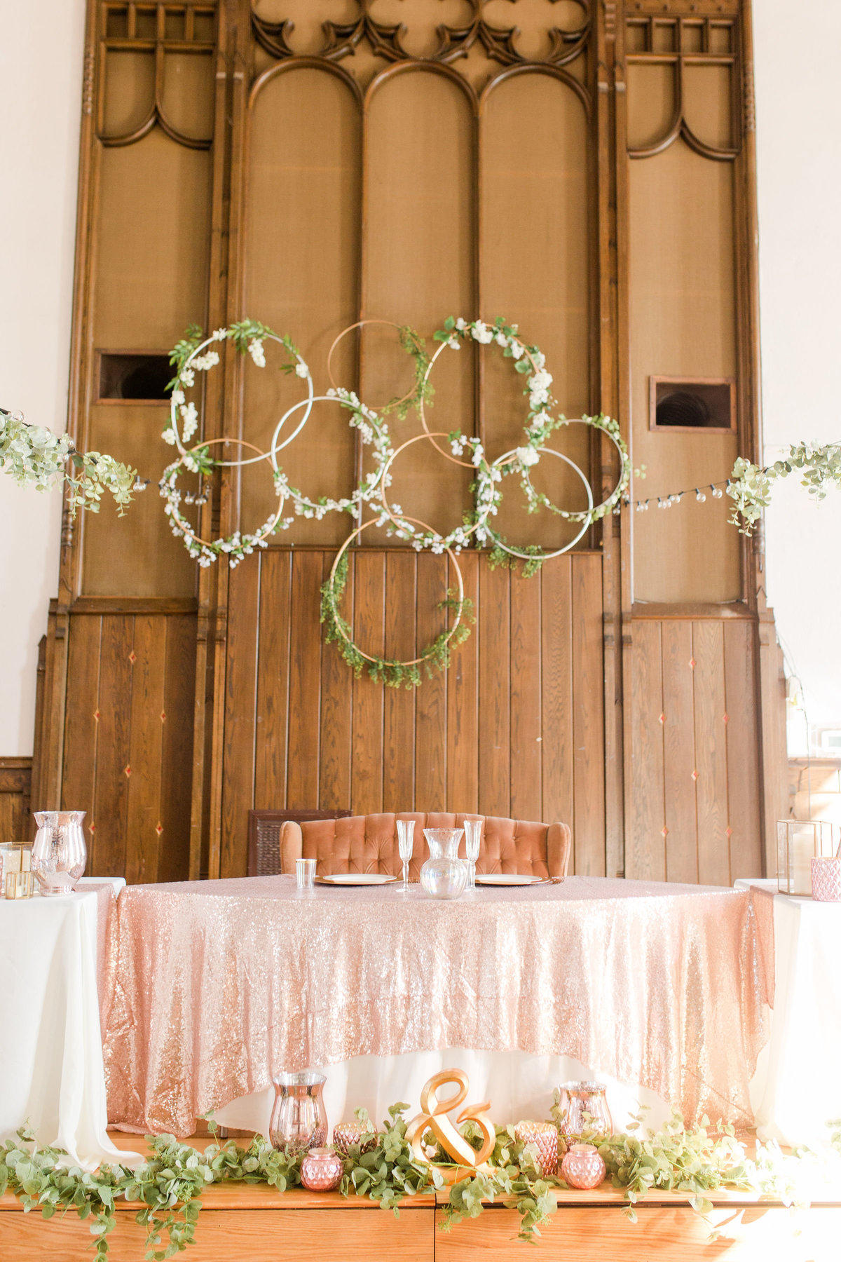 Wedding Reception Sweetheart Table Decor | Megan Snitker Photography | Iowa City Wedding Photographers