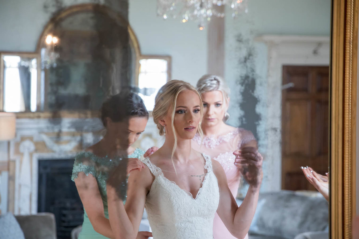 Bride getting ready at Rockbeare Manor Exeter