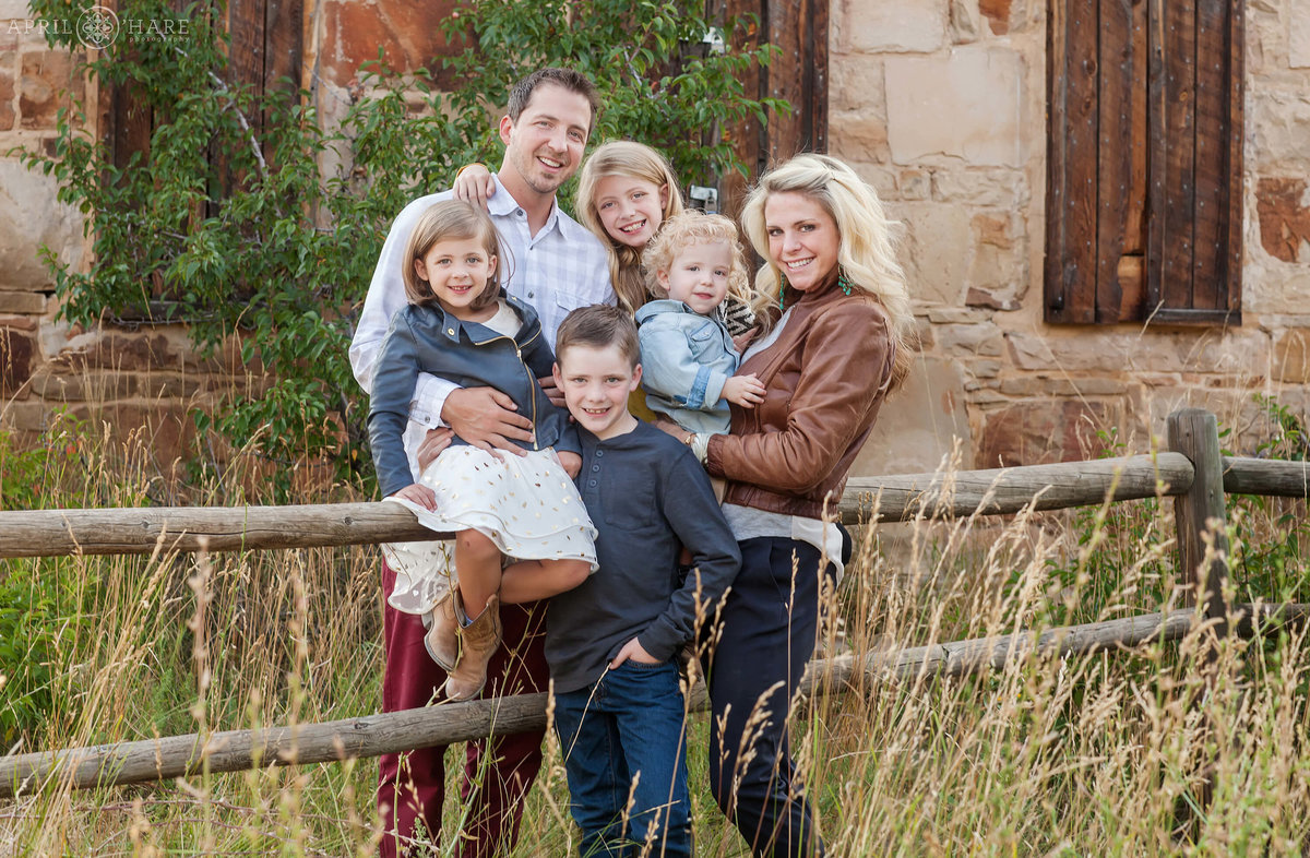 Colorado Family Portraits at South Mesa Trail During Summer