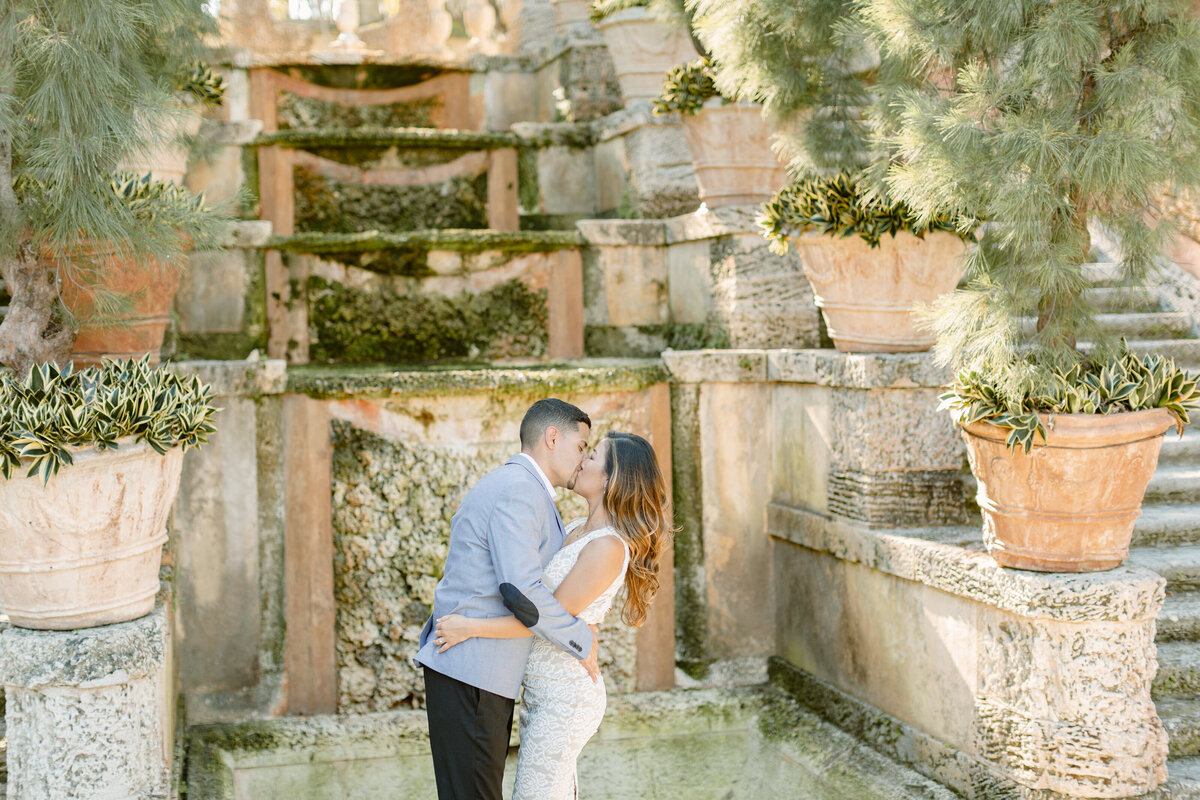 Vizcaya Museum Engagement Photography Session 14