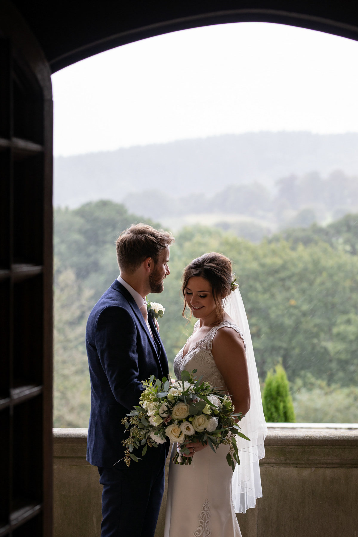 Bride and Groom Bovey Castle Wedding in Devon