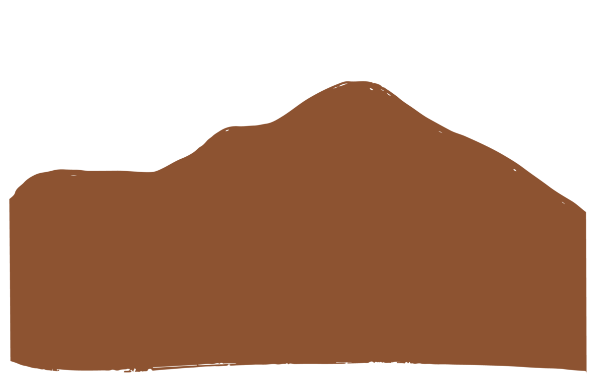 rust color mountain graphic