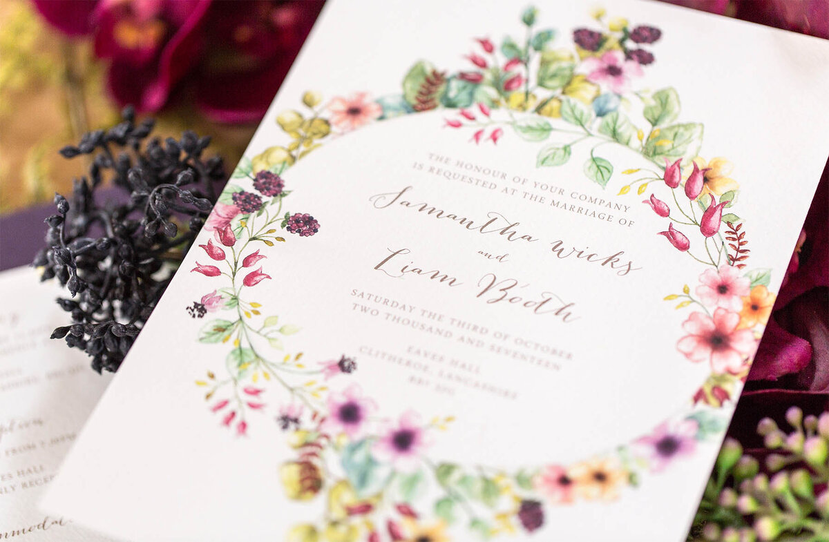Blackberry Wedding Invitations 2