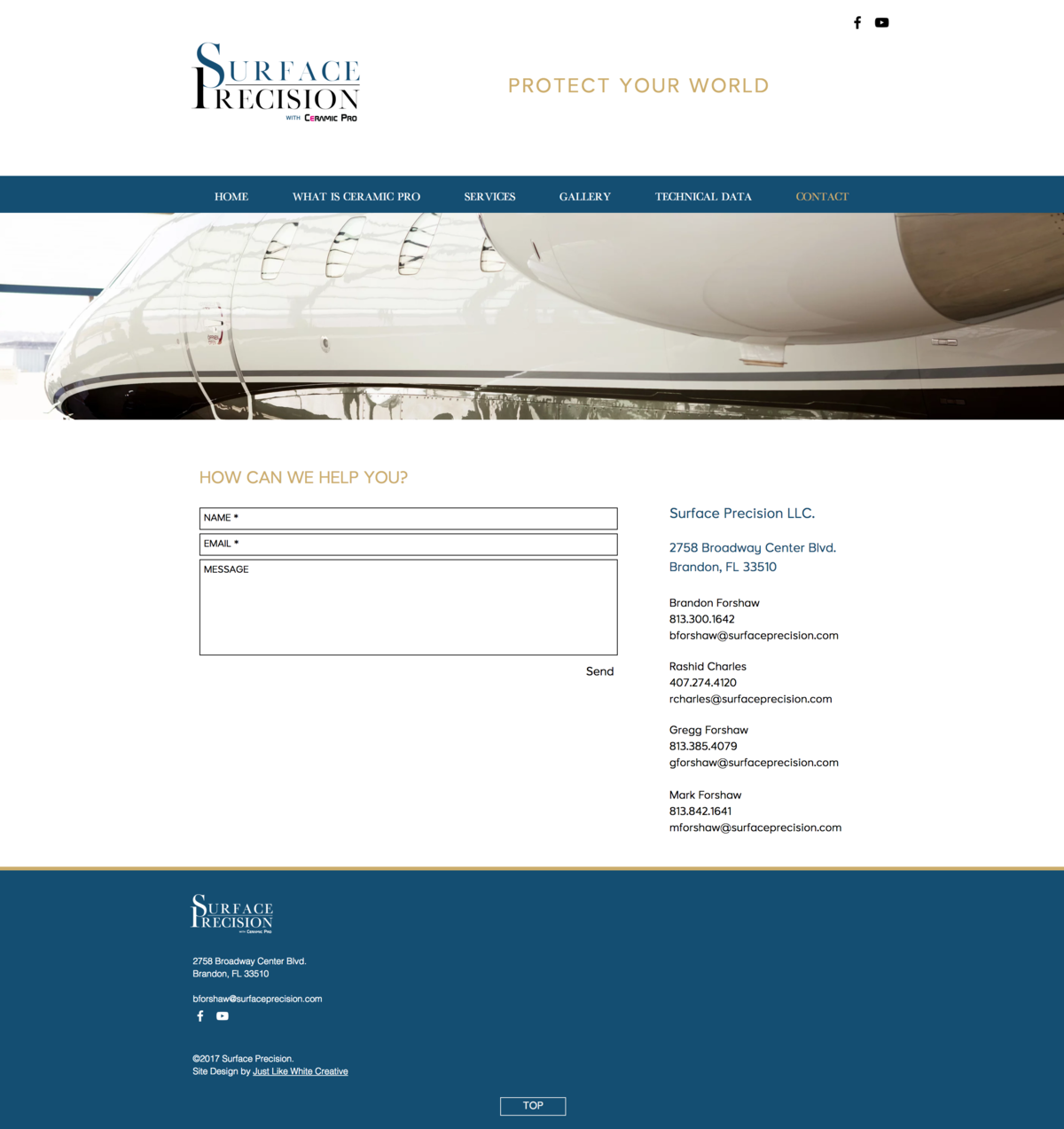 Corporate, professional website by Tribble Design Co.