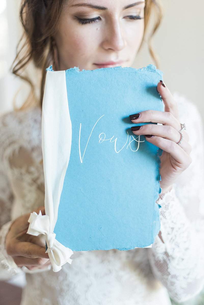 wedding vow book vow holder