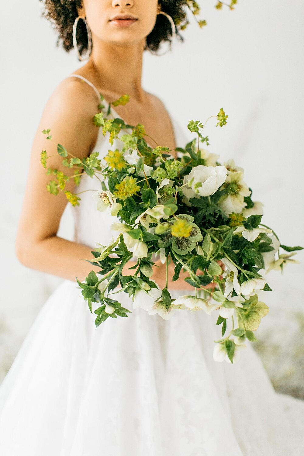 leigh-and-mitchell-spring-bridal-shoot-white-and-green-bouquet-hellabore-bridal-bouquet