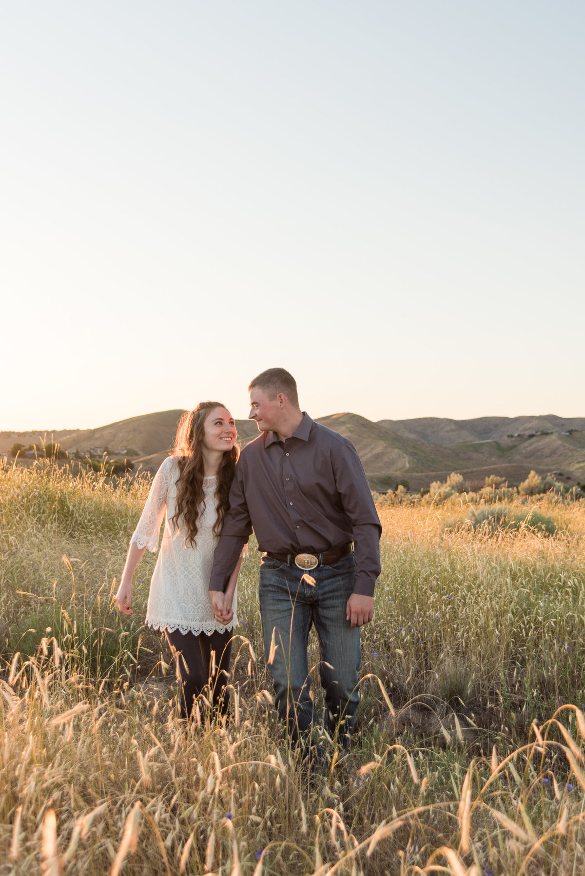 Spring Boise Foothills Engagement Shoot16