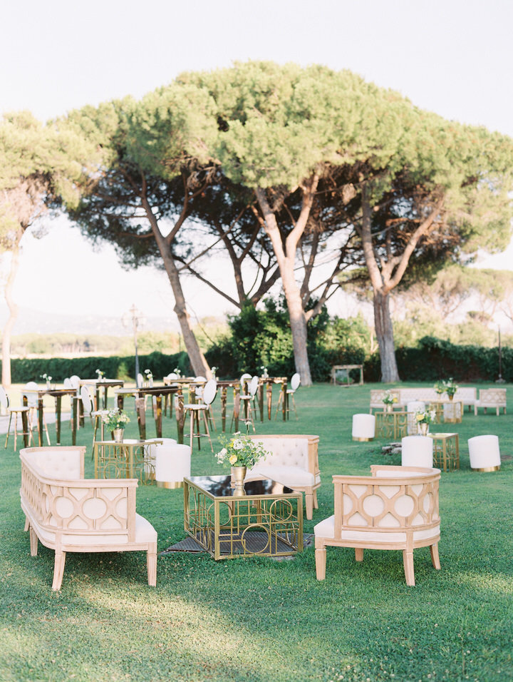 cocktail hour decor ideas for rome wedding