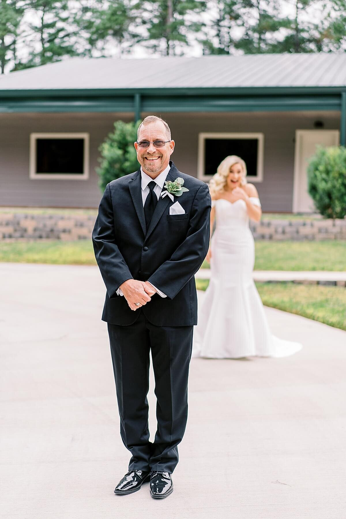 Father Daughter first look at the Annex Wedding Venue photographed by Alicia Yarrish Photography