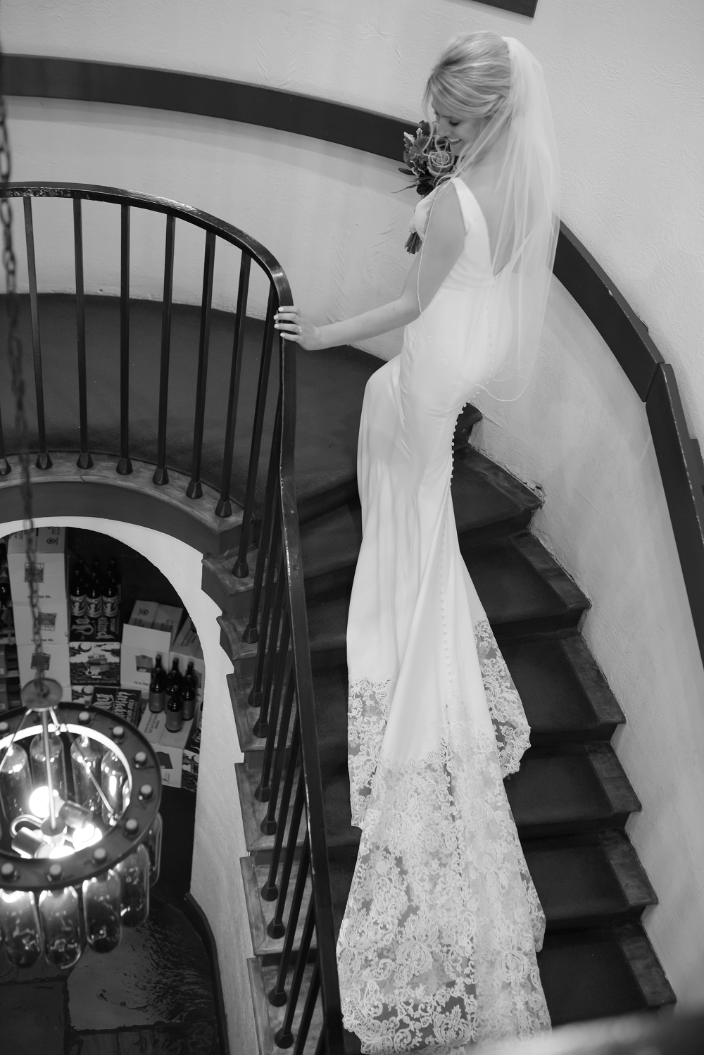 DESTINATION WEDDING IN TRAVERSE CITY WITH KRISTEN AND SCOTT Staircase