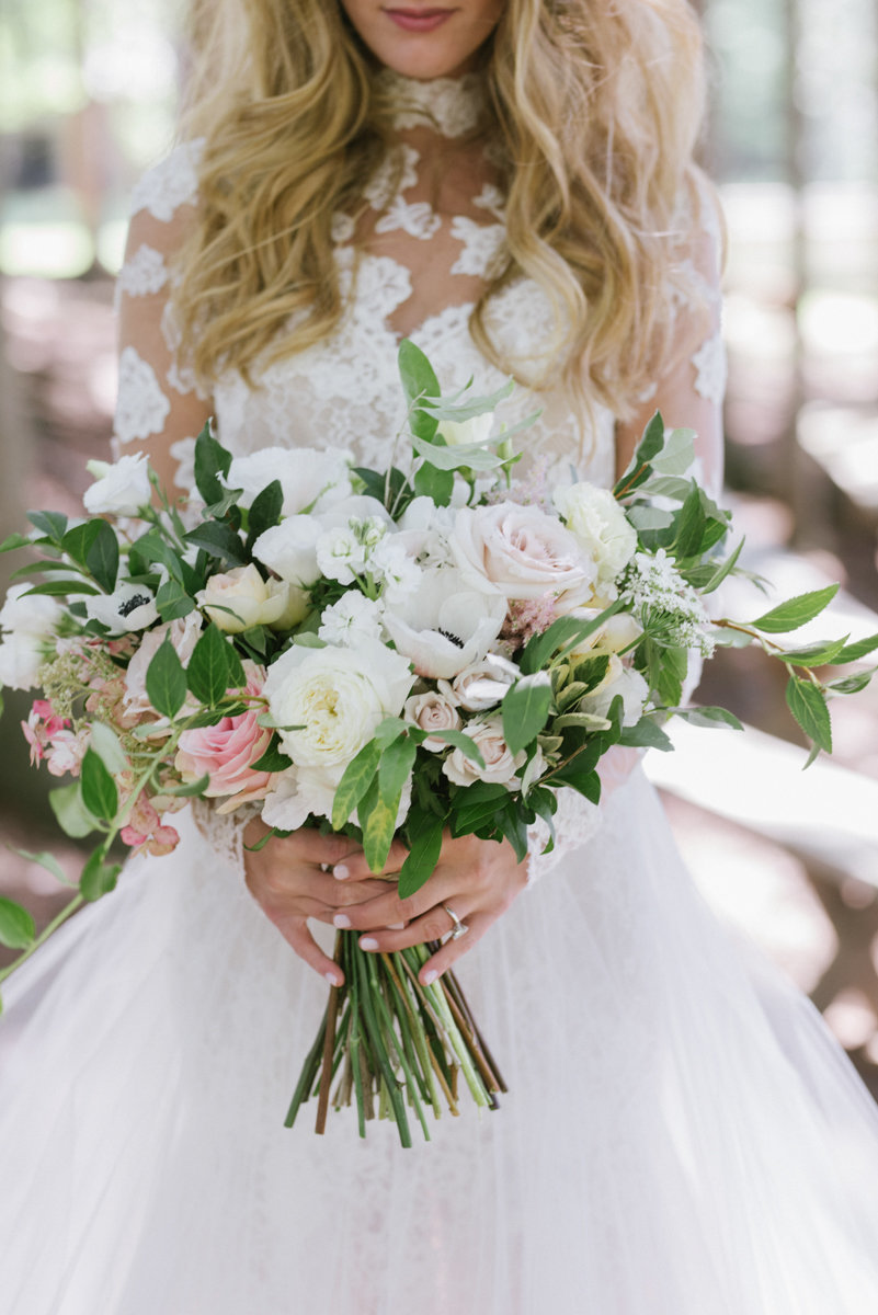 Faye and Rene floral design whimisical bridal bouquet