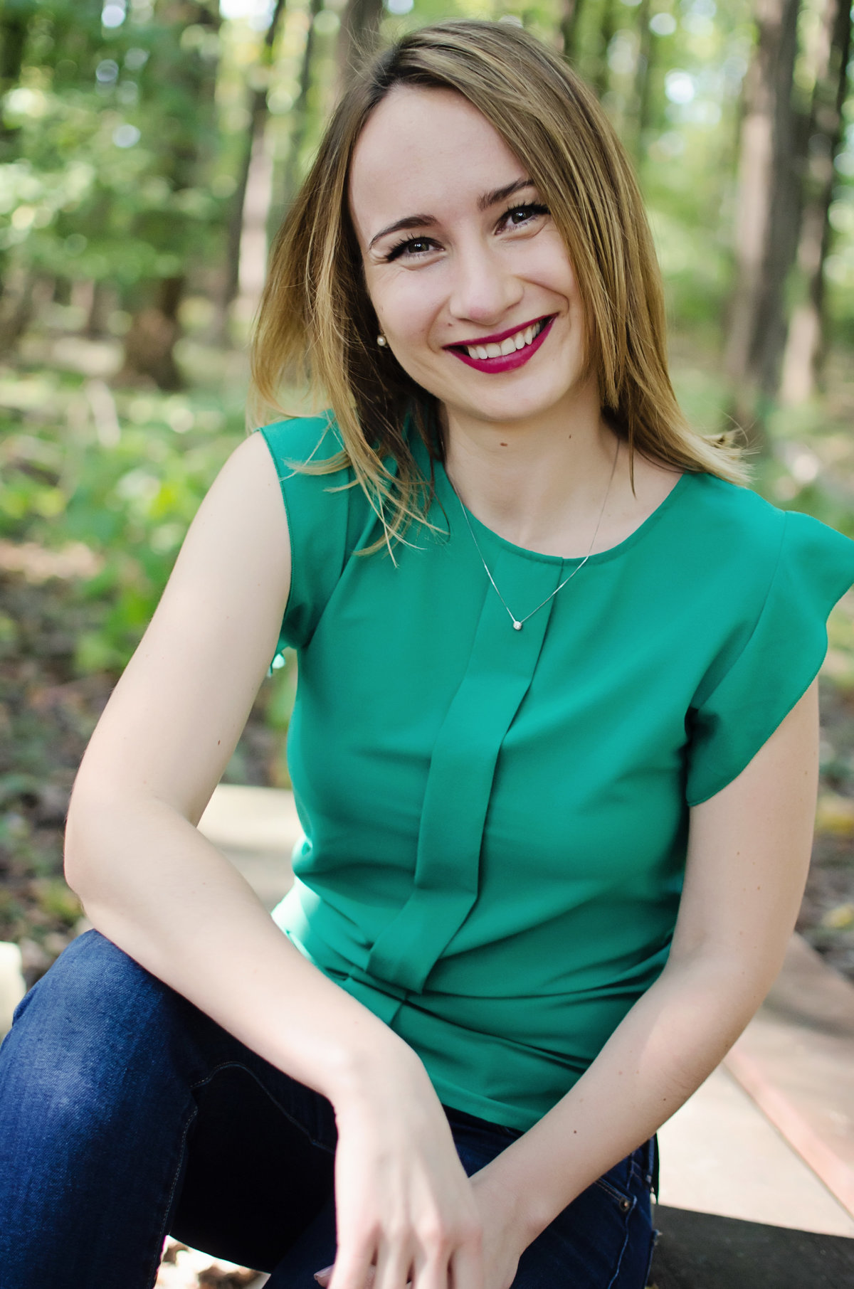 Outdoor Headshot at Nottoway Park in Vienna Virginia with Sarah Alice Photography