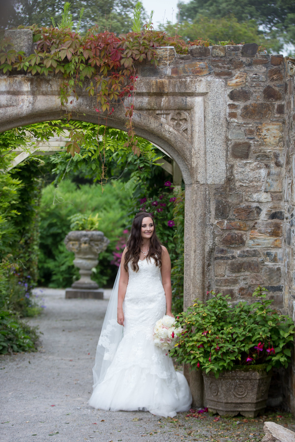 bride at mount edgecumbe wedding