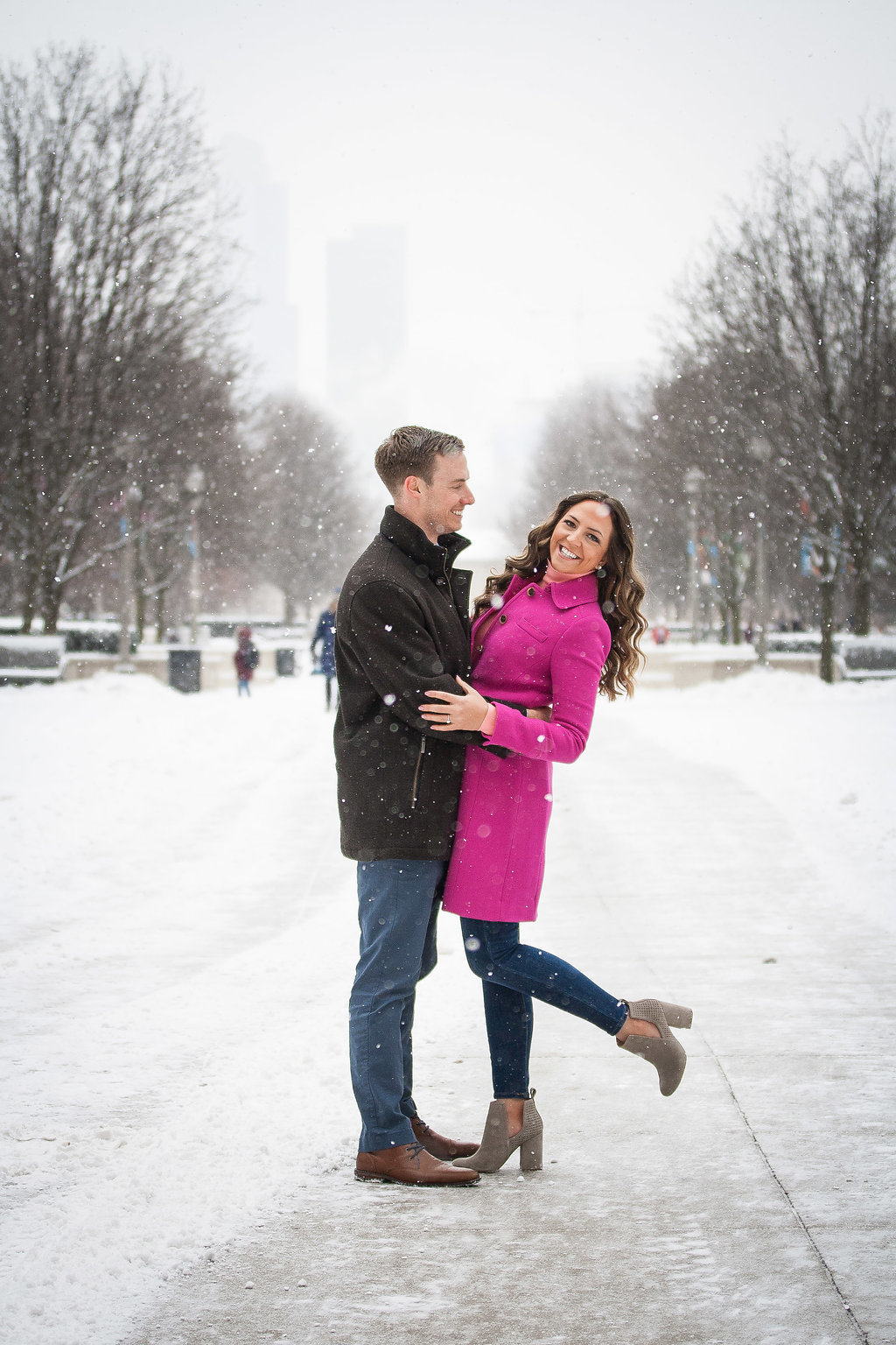 Millennium Park Chicago Illinois Winter Engagement Photographer Taylor Ingles 3