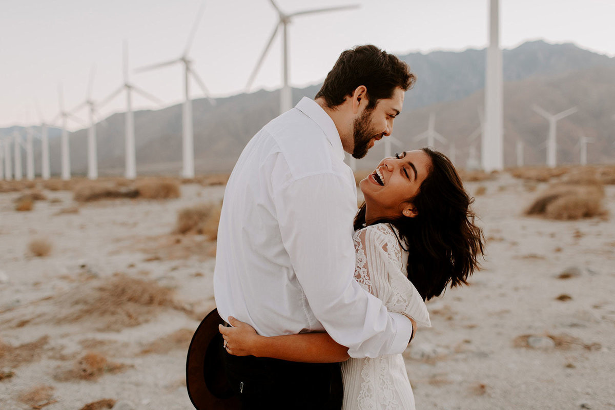 wild palm springs bridal session