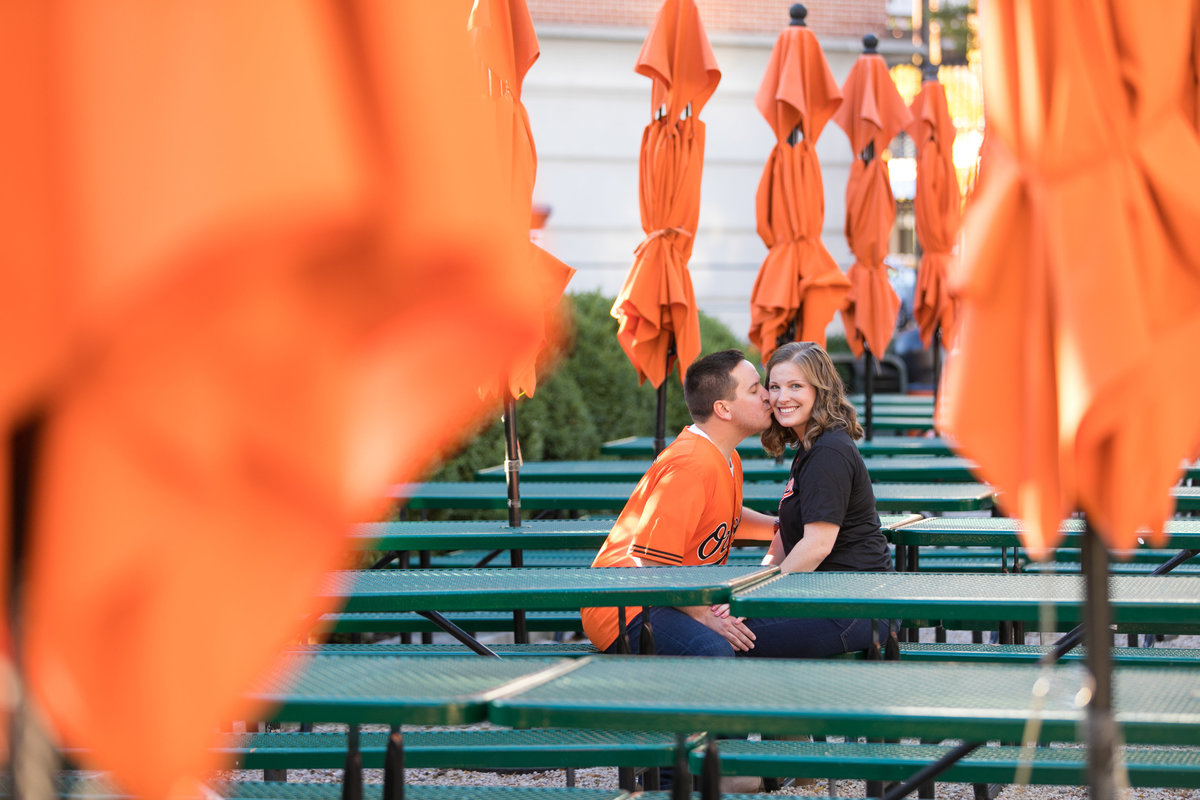 Camden Yards Baltimore Orioles engagement session