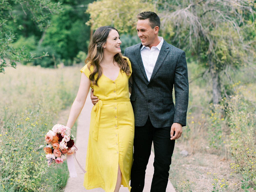 Aubrey & Joey Sedona West Fork Trail Fall Fine Art Engagement Session Ball Photo Co-8