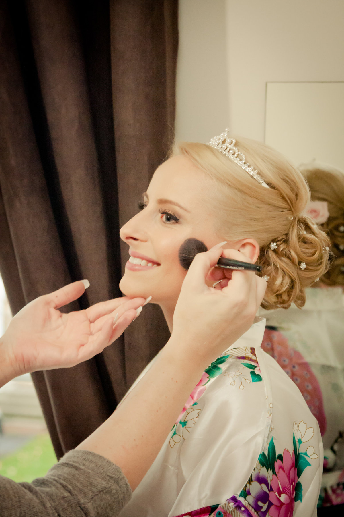 Ottawa Bride Getting Makeup Done