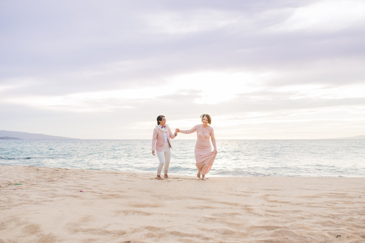 Same Sex Maui wedding photography beach