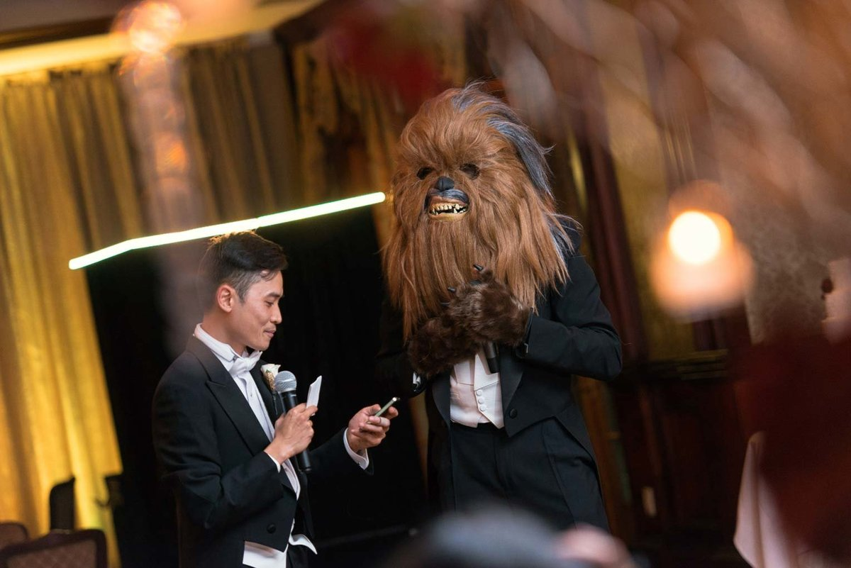 Star wars theme wedding at The Mansion at Oyster Bay