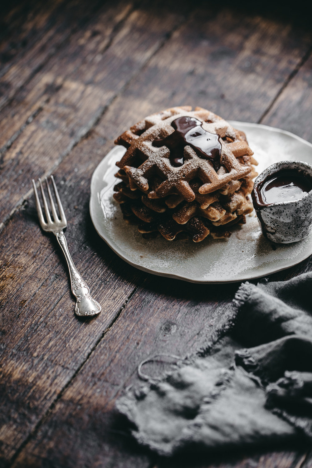 Churros Waffles with Nutella Fudge | Anisa Sabet | The Macadames-21