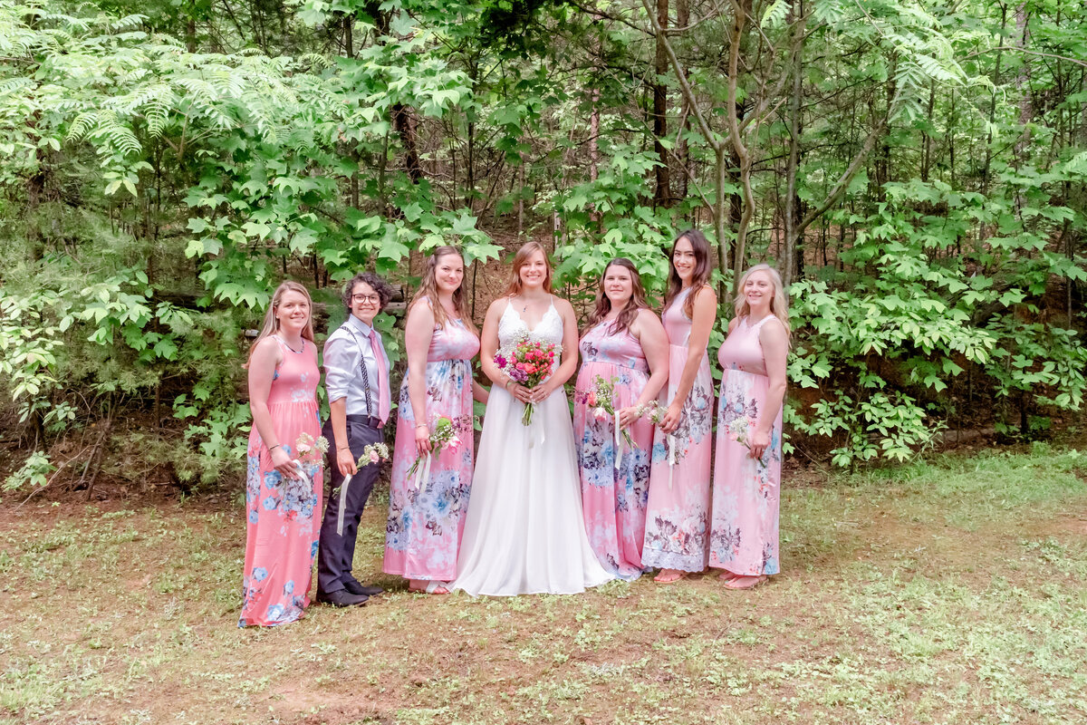 Blue Ridge Mountains Wedding Photography - Rhiannon and Chris - Bridal Party - Wilmington NC Photographers Team
