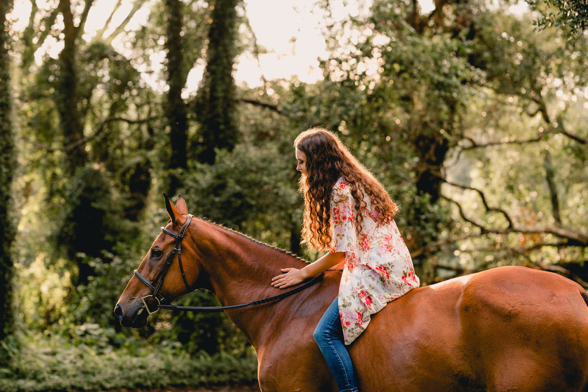 Lifestyle and intimate horse and rider portraits in North Florida.