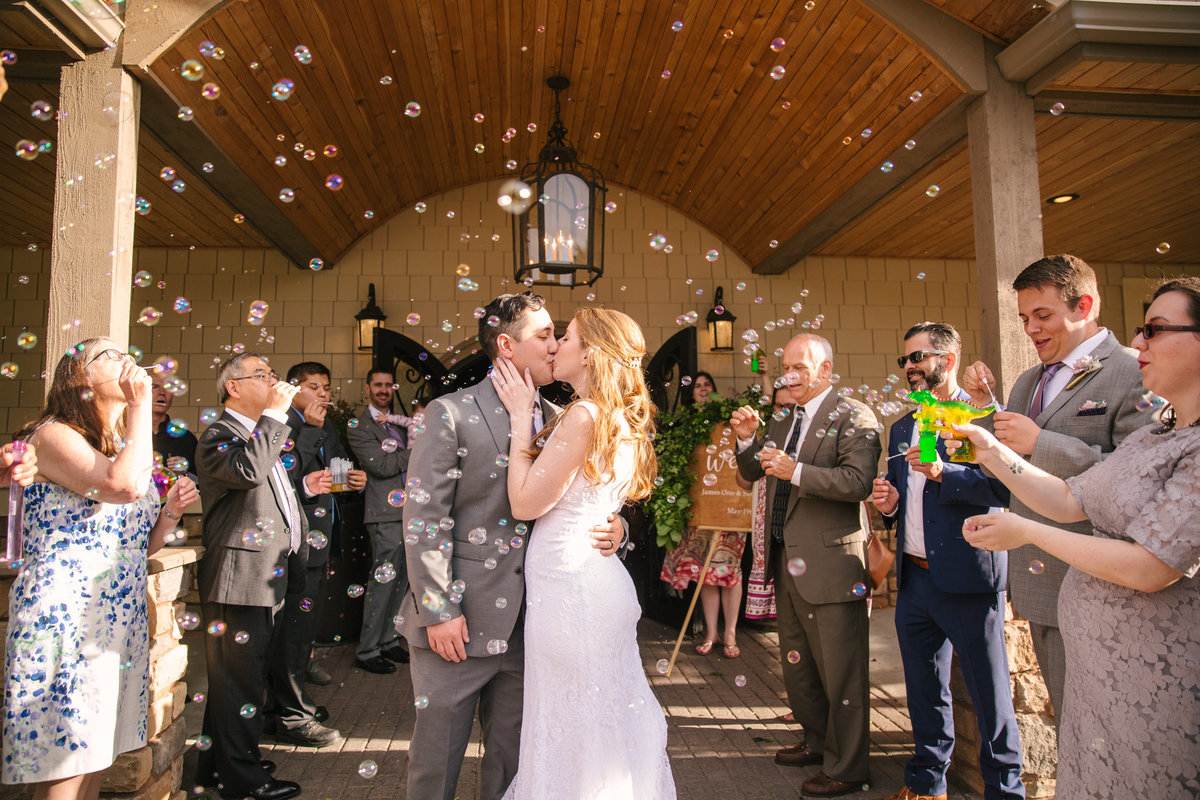 Lord-Hill-Farms-wedding-bubble-exit-photo