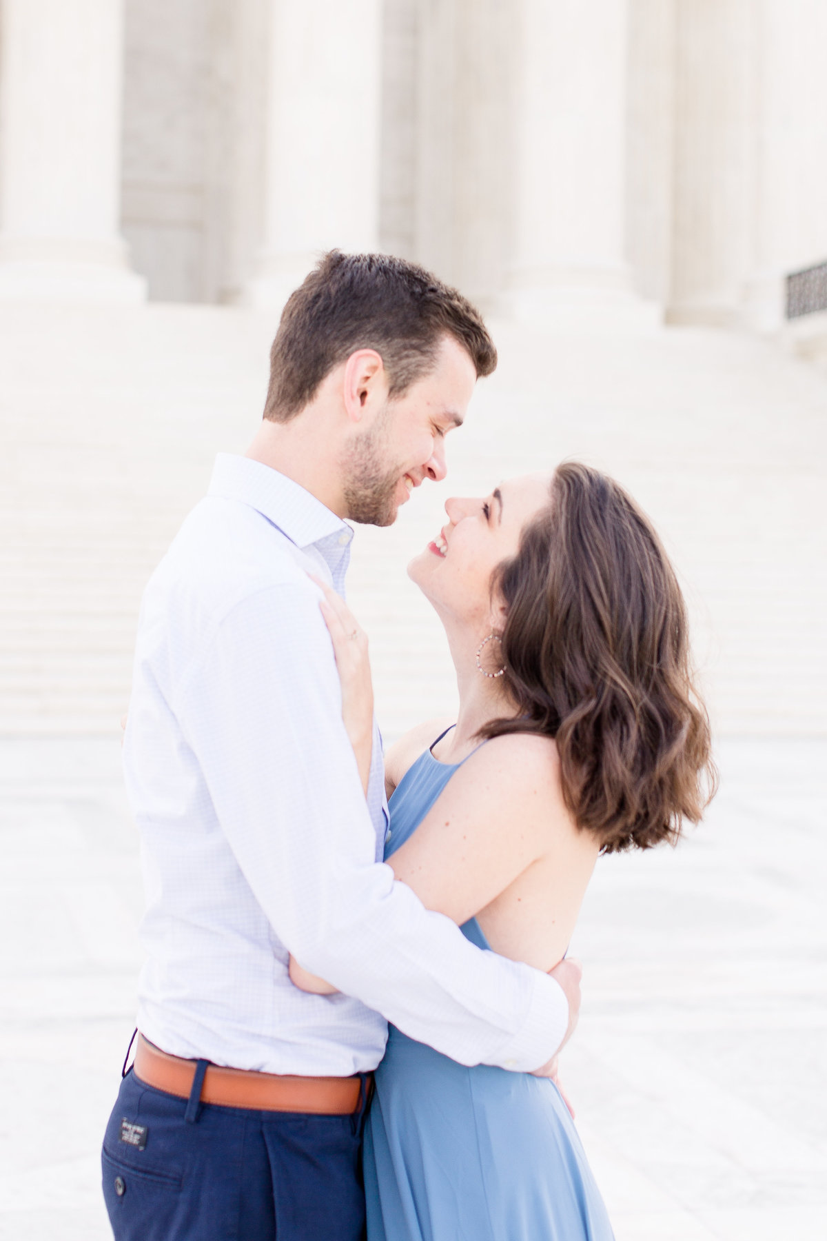 Deanna & Grant | Capital Building Engagement Session | DC Wedding Photographer | Taylor Rose Photography-21