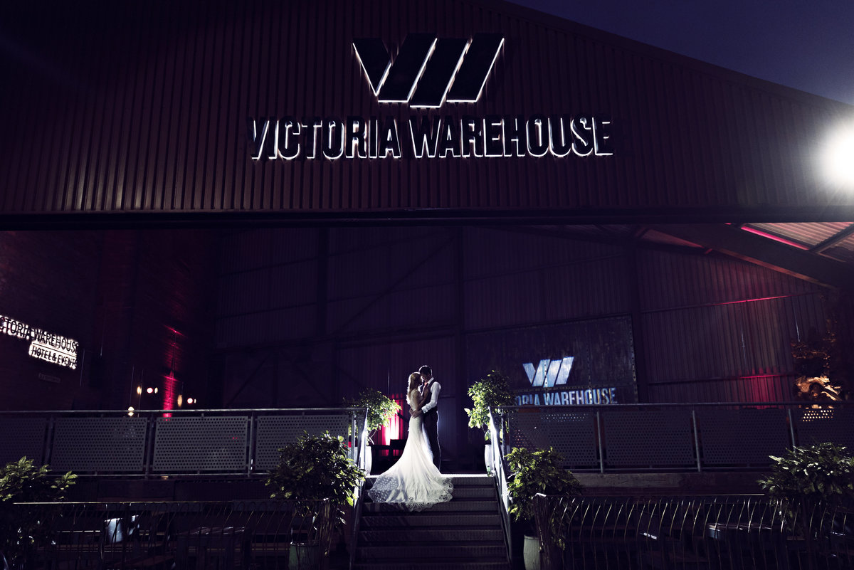 A Night time shot at Victoria Warehouse Manchester