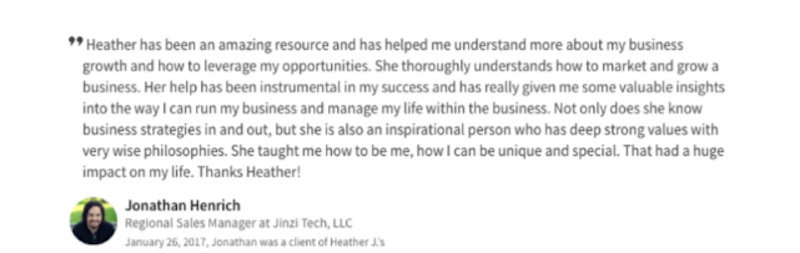 Client Testimony of Heather Crider