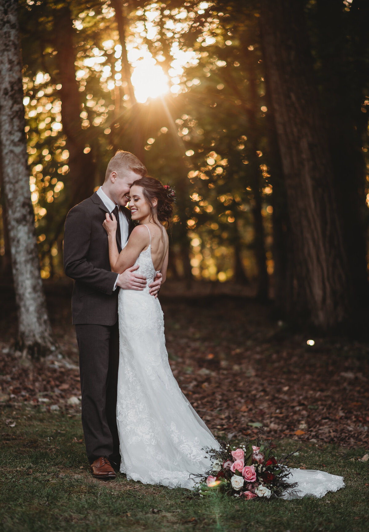 Hannah and Triston October Wedding Brentwood Tennessee Golden Hour