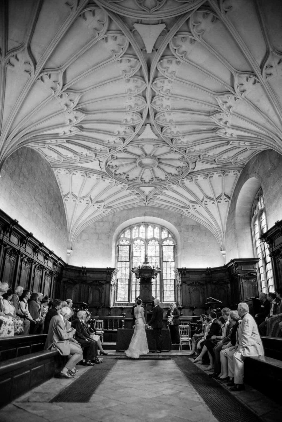 Divinity Hall Bodelian Library Oxford Wedding Photography