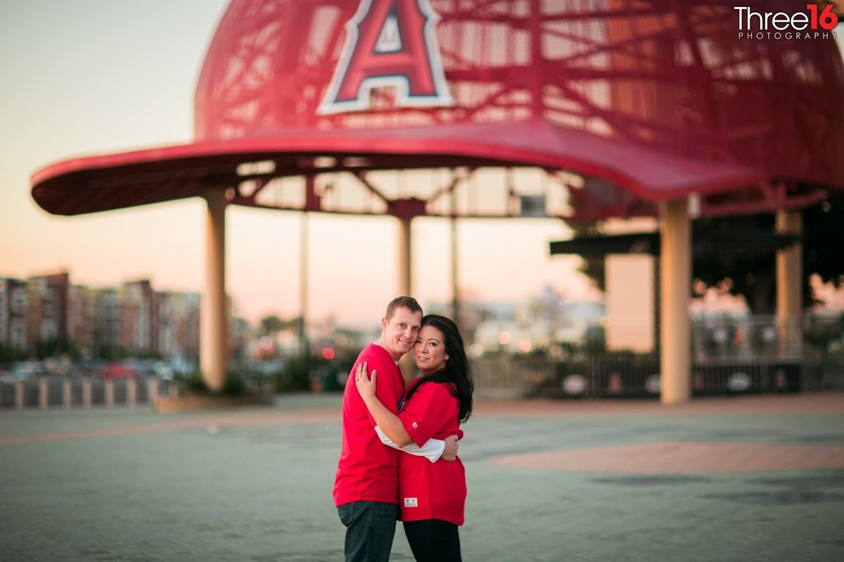 Angel Stadium Engagement Photography