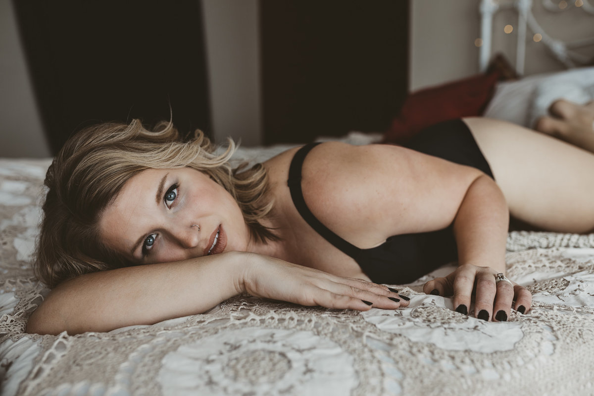 Boudoir photography session in McBride BC